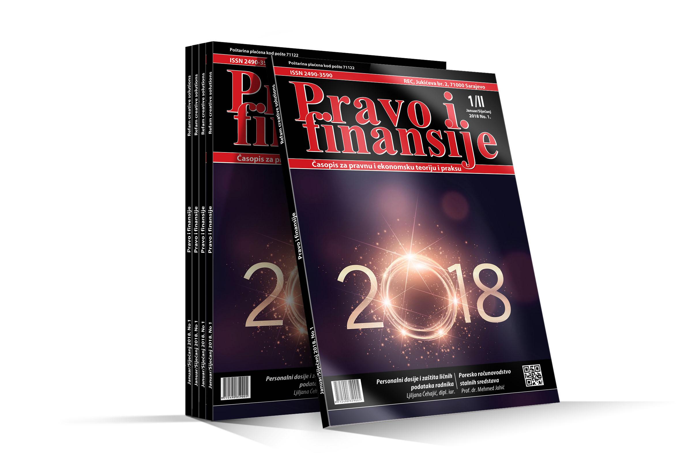 Pravo i finansije 01/2018 - REC d.o.o.,