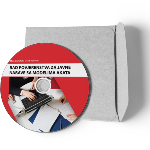 """CD Brošura Broj 8 """"Rad povjerenstva/komisije za javne nabavke sa modelima akata"""""""
