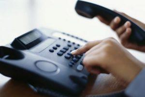 provođenje postupka putem telefona