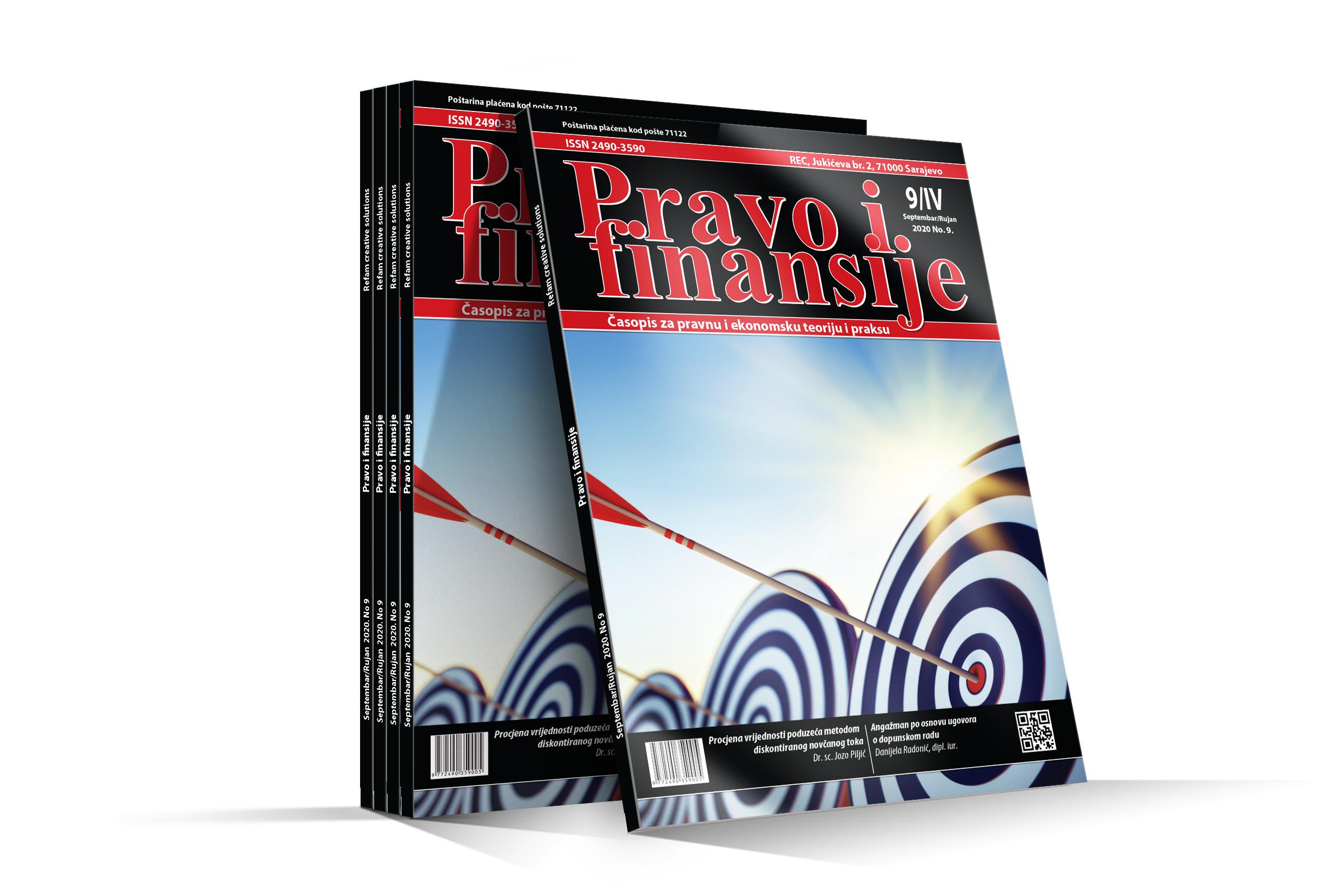 Časopis Pravo i finansije - Septembar 2020.