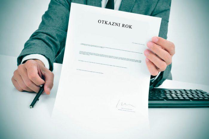 Otkazni rok - postupanje poslodavca