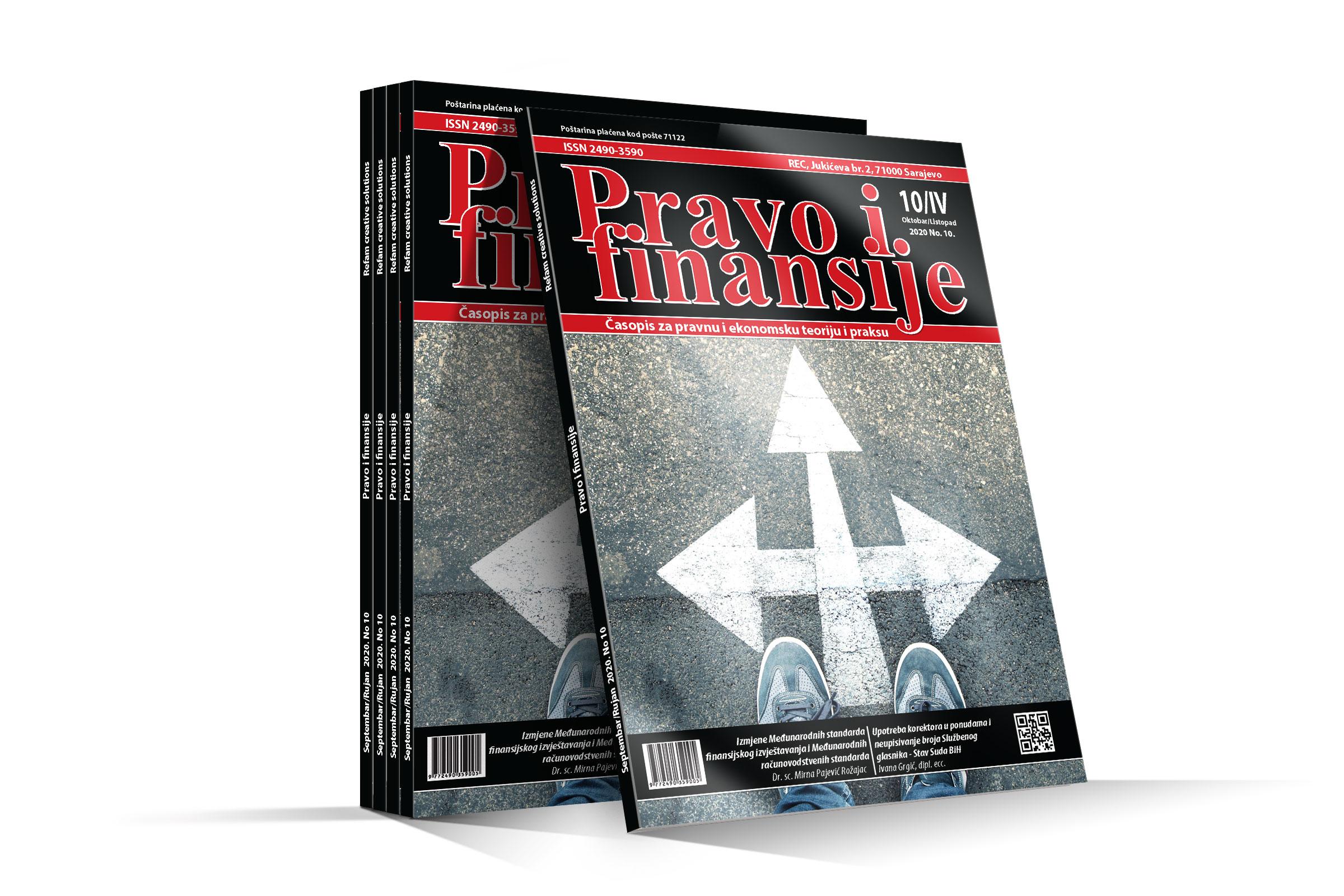 Časopis Pravo i finansije - Oktobar 2020