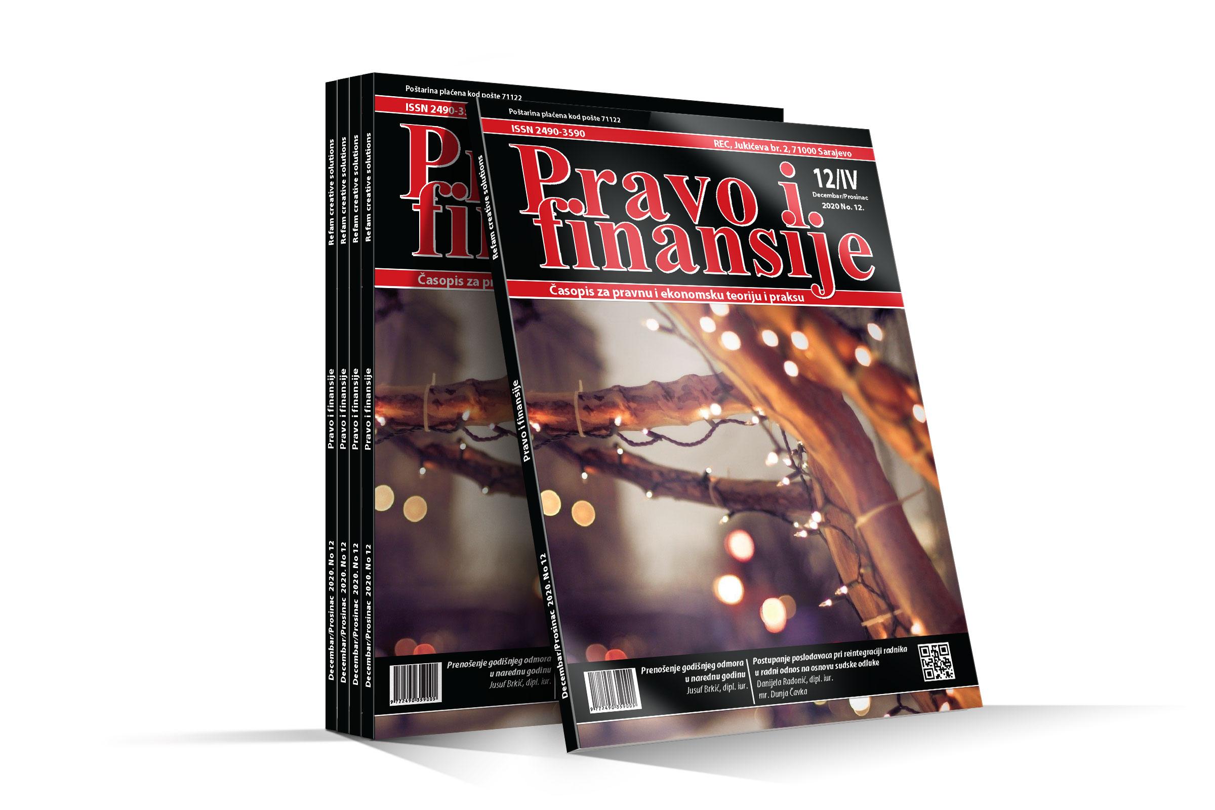 Časopis Pravo i finansije - Decembar 2020.