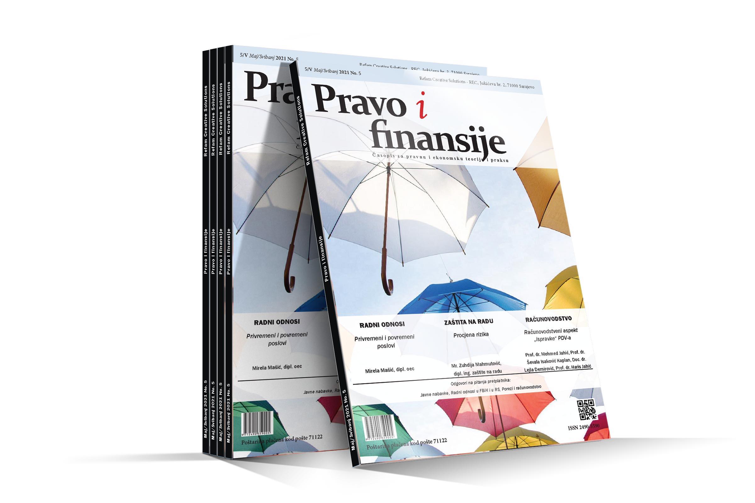 Časopis Pravo i finansije - Maj 2021